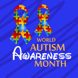 World Autism Awareness Day. Illustration of a Banner for World World Autism Awareness Day Royalty Free Stock Photography
