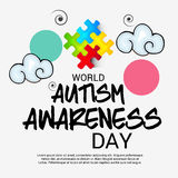 World Autism Awareness Day. Illustration of a Banner for World World Autism Awareness Day Stock Image