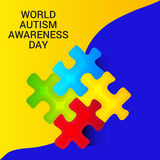 World Autism Awareness Day. Illustration of a Banner for World World Autism Awareness Day Stock Photos
