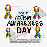 World Autism Awareness Day. Illustration of a Banner for World World Autism Awareness Day Stock Photography