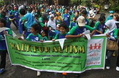 World autism day in indonesia Stock Photo