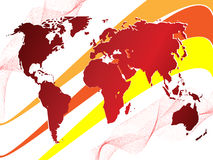 World background. An abstract world background very colored Royalty Free Stock Image