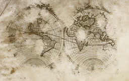 World background. Old world map with great colors. This is a beautiful background Royalty Free Stock Photography