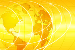 World Background. Abstract illustration of yellow globe background Stock Illustration