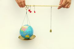 World in the balance Royalty Free Stock Images