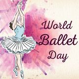 World Ballet Day, October. royalty free illustration