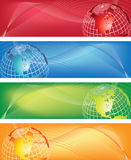 World banner. World abstract banner colorful,blurred arrow Royalty Free Stock Photos