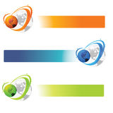 World banner. Abstract banner with globe. Vector illustration Stock Photo