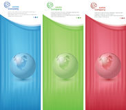 World banner Stock Image