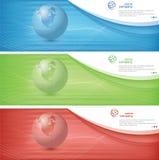 World banner Stock Image