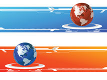 World banner. Vector abstract world banner colourful hy-tech Stock Images