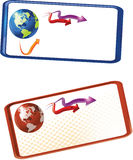 World banner. Vector abstract world banner colorful hy-tech Stock Photo