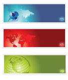 World banner. World abstract banner colorful,blurred arrow Stock Photography