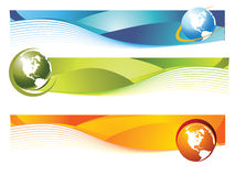 World banner. Banner easy to resize or change color Stock Photography