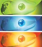World banner Stock Photo