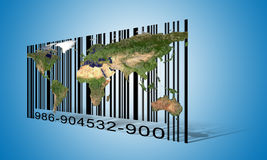 World  Barcode Royalty Free Stock Photo