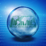World Barcode with binary Stock Image
