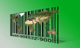 World  Barcode Stock Images