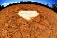 World of Baseball Home Plate Stock Photography