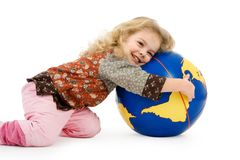 The world belongs into childre Royalty Free Stock Photos