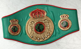 World Belt Boxing champion. UBO. Royalty Free Stock Photo