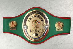 World Belt Boxing champion WBC. Royalty Free Stock Image