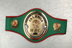 World Belt Boxing champion WBC. Stock Photo