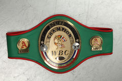 World Belt Boxing champion WBC. Royalty Free Stock Photos