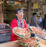 World best crab from tsukiji fish market Royalty Free Stock Photos