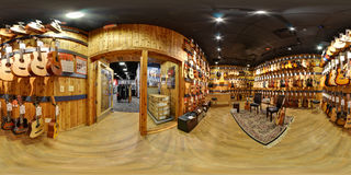 The world biggest guitar center panorama Royalty Free Stock Photography