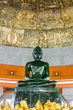World biggest jade Buddha in wat Dhammamongkol, Thailand Royalty Free Stock Images