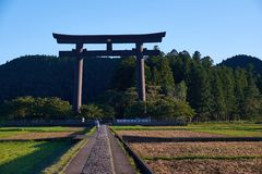 Oyunohara torii gate Stock Photos