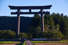Oyunohara torii gate Royalty Free Stock Image