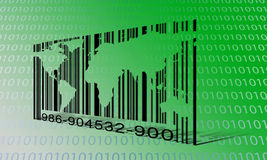 World Binary Barcode Royalty Free Stock Image