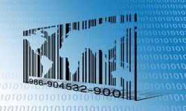 World Binary Barcode Royalty Free Stock Photos