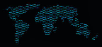 World binary code map. Wold information map binary code design Stock Images