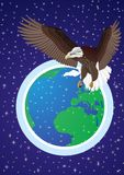 The world from a bird's flight Royalty Free Stock Photography