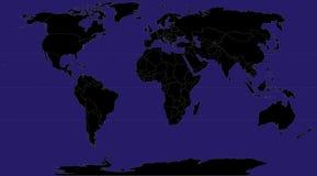 World (black) Stock Image