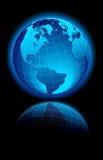 WORLD black background America, Europe Stock Photo