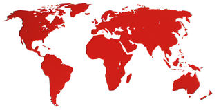 The world is bleeding Stock Photo