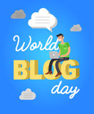 World blog day card Royalty Free Stock Photos