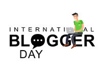 World blog day card Royalty Free Stock Photography