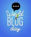 World blog day card Royalty Free Stock Photos
