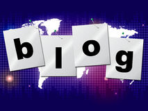 World Blog Shows Worldwide Planet And Blogger Stock Photography