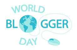 World Blogger Day banner Royalty Free Stock Photo
