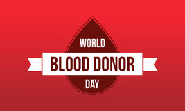 World blood donor day background collection. Vector art Royalty Free Stock Photography