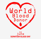 World blood donor day. Illustration of World blood donor day Royalty Free Stock Photography