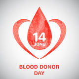 World blood donor day illustration Royalty Free Stock Image