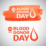 World blood donor day illustration Royalty Free Stock Photos
