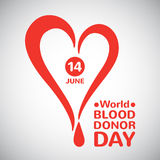 World blood donor day illustration Royalty Free Stock Photography